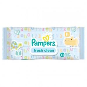 Pampers Fresh Clean Baby Wipes 64 Pack