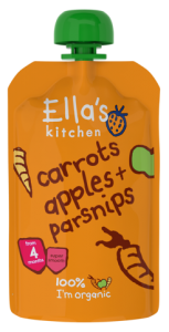 Ella's Kitchen Stage 1 Organic Carrots, Apples & Parsnip 120g