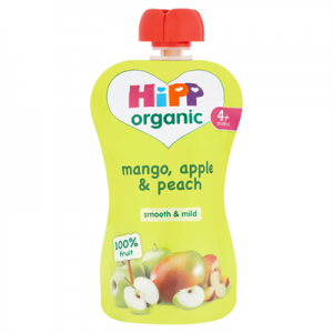 Hipp 4 Month Organic Mango, Apple & Peach 100g