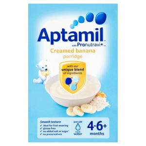 Aptamil 4-6 Month Creamed Banana Porridge 125g