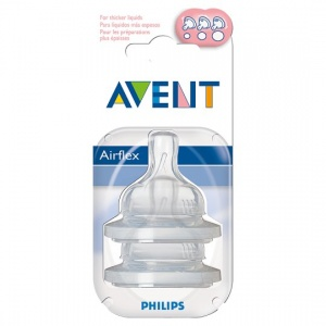 Avent 2 Silicone Teats Variable Flow 3 months+