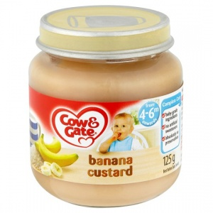 Cow & Gate 4 Mth+ Banana Custard 125g Jar