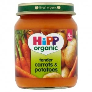 Hipp 4 Month Organic Carrots Amp Potatoes 125g Jar