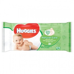 Huggies Natural Care Baby Wipes with Aloe 56 per pack