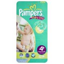 Pampers Baby Dry Economy Pack Size 4+ Maxi Plus 41 per pack (9-20 Kgs)