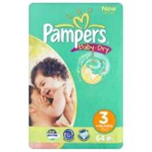 Pampers Baby Dry Economy Pack Size 3 Midi 50 per pack (4-9 Kgs)