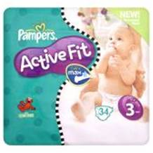 Pampers Active Fit Carry Pack Size 3 Midi 28 per pack (4-9 Kgs)