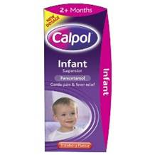 Calpol 2 months + Infant Suspension Strawberry Flavour Liquid 100 ml bottle