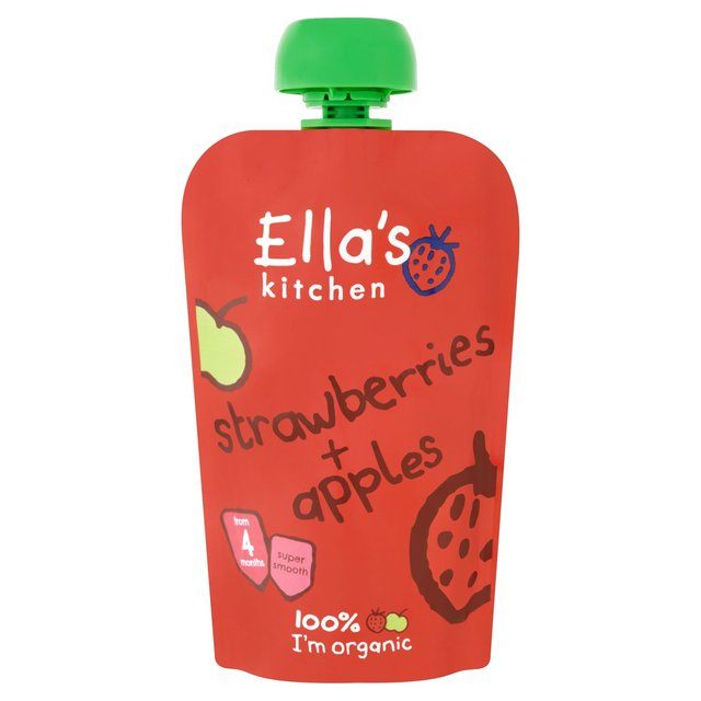 Ella Kitchen: Ella's Kitchen Stage 1 Organic Strawberries & Apples 120g