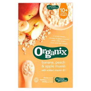 Organix Stage 3 Banana, Peach & Apple Muesli 200g