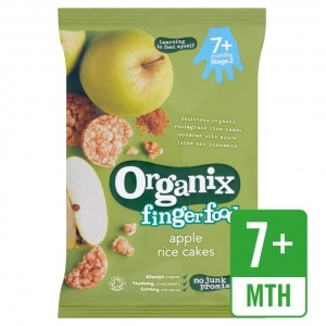 Organix 7 Month Rice Cakes - Apple 50g