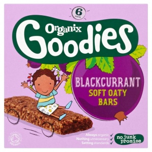 Organix 12 Month Blackcurrant Cereal Bar 6 x 30g