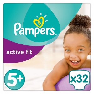 Pampers Active Fit Carry Pack Size 5+ Junior Plus 32 per pack (13-27 Kgs)