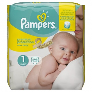 Pampers New Baby Size 1 (2-5 Kgs) 22 per pack