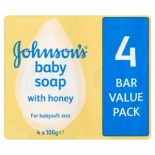 Johnsons Baby Soap 4 Bar Pack