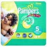 Pampers Baby Dry Carry Pack Size 5 Junior 23 per pack (11-25 Kgs)