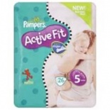 Pampers Active Fit Carry Pack Size 5 Junior 20 per pack (11-25 Kgs)