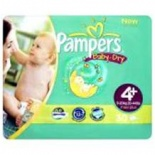 Pampers Baby Dry Carry Pack Size 4+ Maxi Plus 24 per pack (9-20 Kgs)