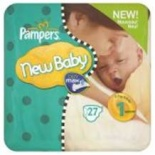 Pampers New Baby Size 1 (2-5 Kgs) 23 per pack