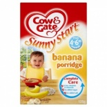 Cow & Gate 4-6 Month Banana Porridge 125g