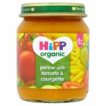 Hipp 6 Month Organic Penne with Tomato & Courgette 125g Jar