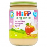 Hipp 7 Month Organic Rice Pudding with Apple & Pear 190g Jar