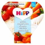 Hipp 9 Month Organic Garden Vegetable Risotto with Flaky White Fish 230g