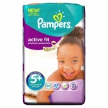 Pampers Active Fit Carry Pack Size 5+ Junior Plus 20 per pack (13-27 Kgs)