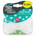 Tommee Tippee 0 - 6 Months Closer to Nature Soothers 2 Pack - Boy