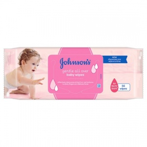 Johnsons Baby Wipes Gentle All Over 56 Pack