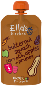 Ella's Kitchen Stage 1 Organic Butternut Squash, Carrots, Apples & Prunes 120g