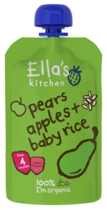 Ella's Kitchen Stage 1 Organic Pears, Apples & Baby Rice 120g