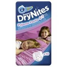 Huggies Dry Nites Pyjama Pants x 10 Girl (4-7 Yrs)