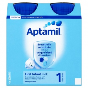 Aptamil First Ready to Feed Milk - 4 x 200ml Bottles