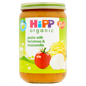 Hipp 10 Month Organic Pasta with Tomatoes & Mozzarella 220g Jar