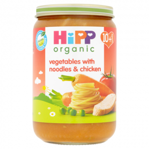 Hipp 10 Month Organic Vegetable Noodles & Chicken 220g Jar