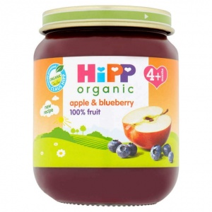 Hipp 4 Month Organic Apple & Blueberry Dessert 125g Jar