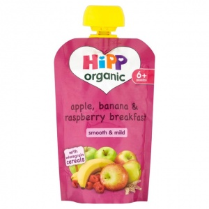 Hipp 6 Month Organic Apple, Banana & Raspberry Breakfast 100g