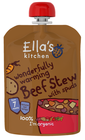 ellas kitchen stage 2 organic beef stew with spuds 130g - Ellas Kitchen