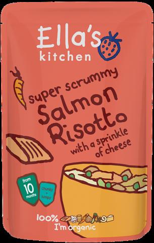 ellas kitchen stage 3 organic salmon risotto 190g - Ellas Kitchen