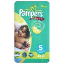 Pampers Baby Dry Economy Pack Size 5 Junior 39 per pack (11-25 Kgs)
