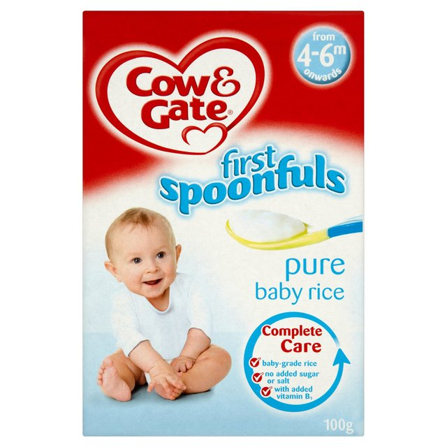 Cow Gate 4 6 Month Pure Baby Rice 100g Expatessentials Com