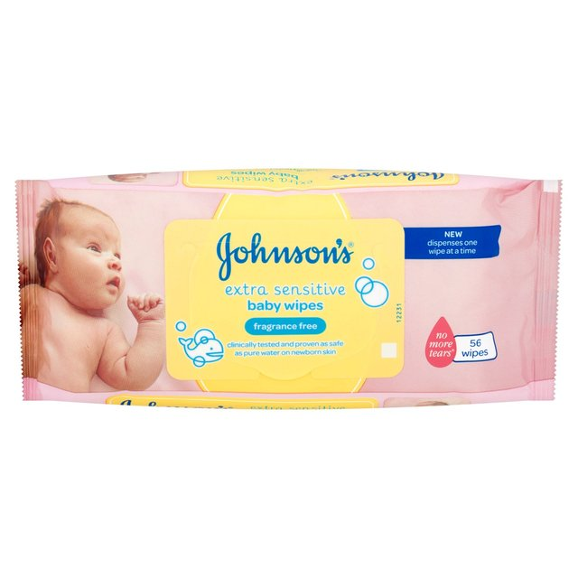 Johnsons Baby Wipes Extra Sensitive 56 Pack