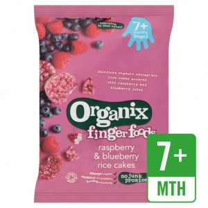 Organix 7 Month Rice Cakes - Raspberry & Blueberry 50g