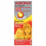 Nurofen Strawberry Liquid For Children 3 months +100ml