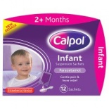 Calpol 2 months + Infant Suspension Strawberry Flavour Sachets 12 pack
