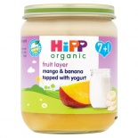 Hipp 7 Month Organic Fruit Layer Mango & Banana with Yoghurt 160g Jar