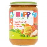 Hipp 7 Month Organic Vegetables With Noodles & Chicken 190g Jar