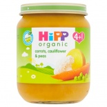 Hipp 4 Month Organic Vegetable Medley of Carrots, Cauliflower & Peas 125g Jar