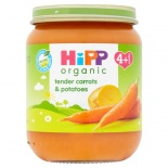 Hipp 4 Month Organic Carrots & Potatoes 125g Jar
